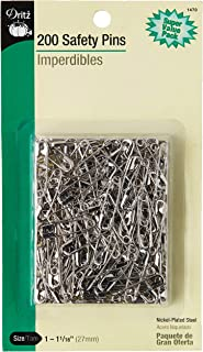 Dritz 1470 Safety Pins, Size 1 (200-Count)