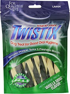 Twistix Dental Chews for Pets with Vanilla Mint Flavor, Large (156.1 gm)