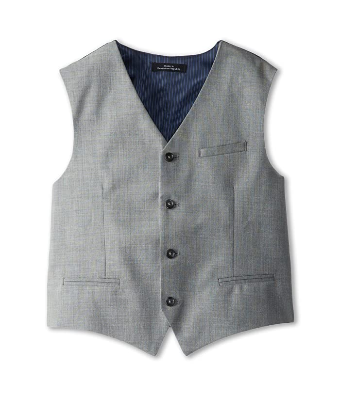 Sharkskin w/ Deco Vest (Big Kids) (Light Grey) Boy's Vest
