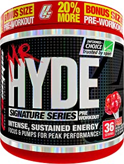 ProSupps Mr. Hyde Signature Series Pre-Workout Energy Drink – Intense Sustained Energy, Focus & Pumps with Beta Alanine, Creatine, Nitrosigine & TeaCrine – (36 serv 20% Bonus Lollipop Punch)