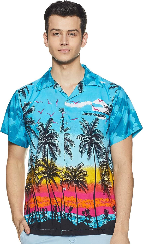 Stylore Hawaiian Shirts for Men Short -Sleeve Button Down Summer Luau