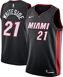 Nike Hassan Whiteside Miami Heat Icon Edition Swingman Jersey - Black
