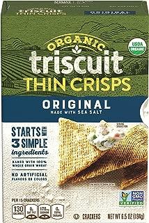 Triscuit Thin Crisps Organic Original Crackers (Pack of 6) Non-GMO