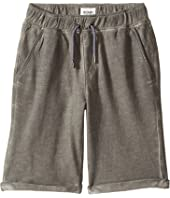Hudson Kids - Pigment Dye Pull-On Shorts in Silver Cloud (Big Kids)