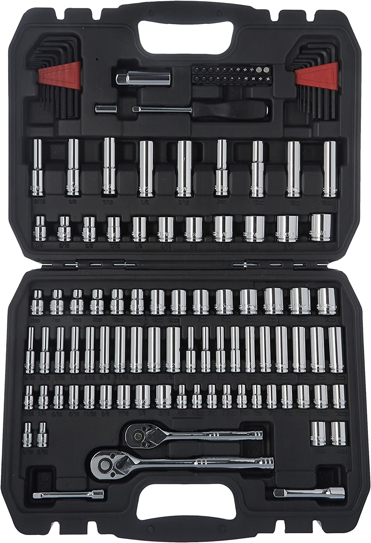 AmazonBasics - Steckschlüsselsatz Steckschlüsselsatz Steckschlüsselsatz (123-Teile) B074MFY7BM | Hochwertig  19fdc5