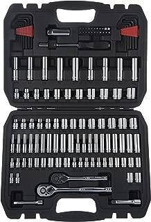 AmazonBasics Mechanic Socket Tool Kit Set With Case - Set of 123