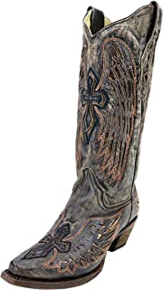 CORRAL A3401 Sand Wings and Cross Inlay Western Boots