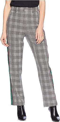 Plaid Pants w/ Side Trim