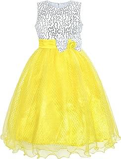 Vestido Sunny Fashion para meninas com glitter e lantejoulas, casamento, dama de honra, tamanho 4-14