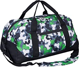 Wildkin Men's Overnighter Duffel Bag Carry On Size And Perfect After School Practice Or Weekend Or Overnight Travel Patterns Coordinate With Our Nap Mats And Sleeping Bags