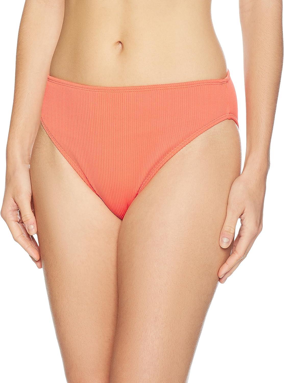Amazon Brand - Mae Women's Swimwear Ribbed Bikini Bottom