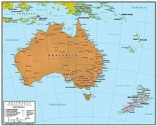 Australia Wall Map GeoPolitical Edition by Swiftmaps (24x30