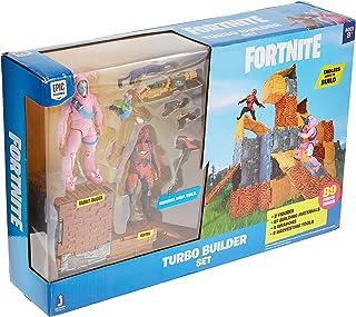 FORTNITE FNT0115 Turbo Builder set med spelfigurer Rabbit Raider och Vertex serie 2, flera färger
