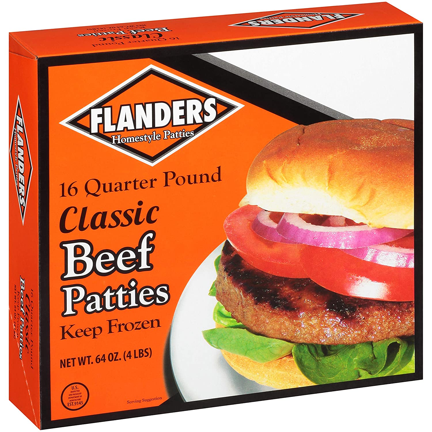 FLANDERS Limited time trial price BEEF PATTIES 64 OF OZ 2 Popular products PACK