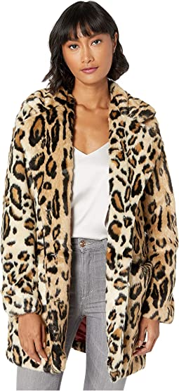 Margot Leopard Faux Fur Coat
