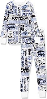 Amazon Essentials Niña Disney Star Wars Marvel Princesa Conjuntos de pijamas de algodón con corte ajustado