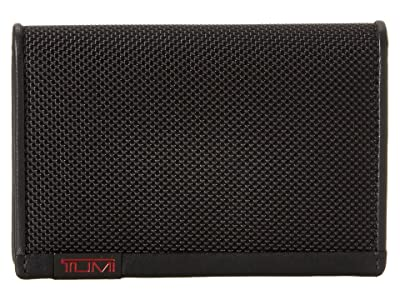 Tumi Alpha Multi Window Card Case (Black) Credit card Wallet