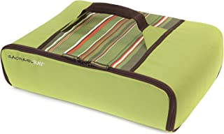 """Rachael Ray Universal Thermal Carrier, Fits 9""""X13"""" Baking Dishes, Insulated Casserole Carrier for Hot and Cold Transport, Green Stripe"""
