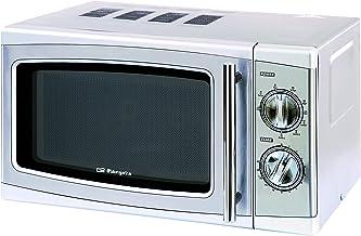 Orbegozo MIG2011 MIG 2011-Microondas, 700 W, 20 l, 9 niveles, 800 W, 20 litros, Acero inoxidable
