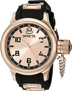 Invicta Men's 1439 Russian Diver Rose Dial Black Rubber Watch
