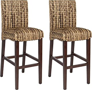 wicker bar stools with backs