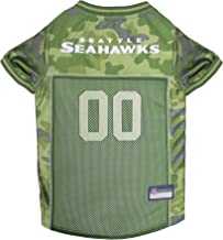 Pets First NFL SEATTLE SEAHAWKS CAMOUFLAGE DOG JERSEY, X-Large. - CAMO PET Jersey available in 5 sizes & 32 NFL TEAMS. Hunting Dog Shirt
