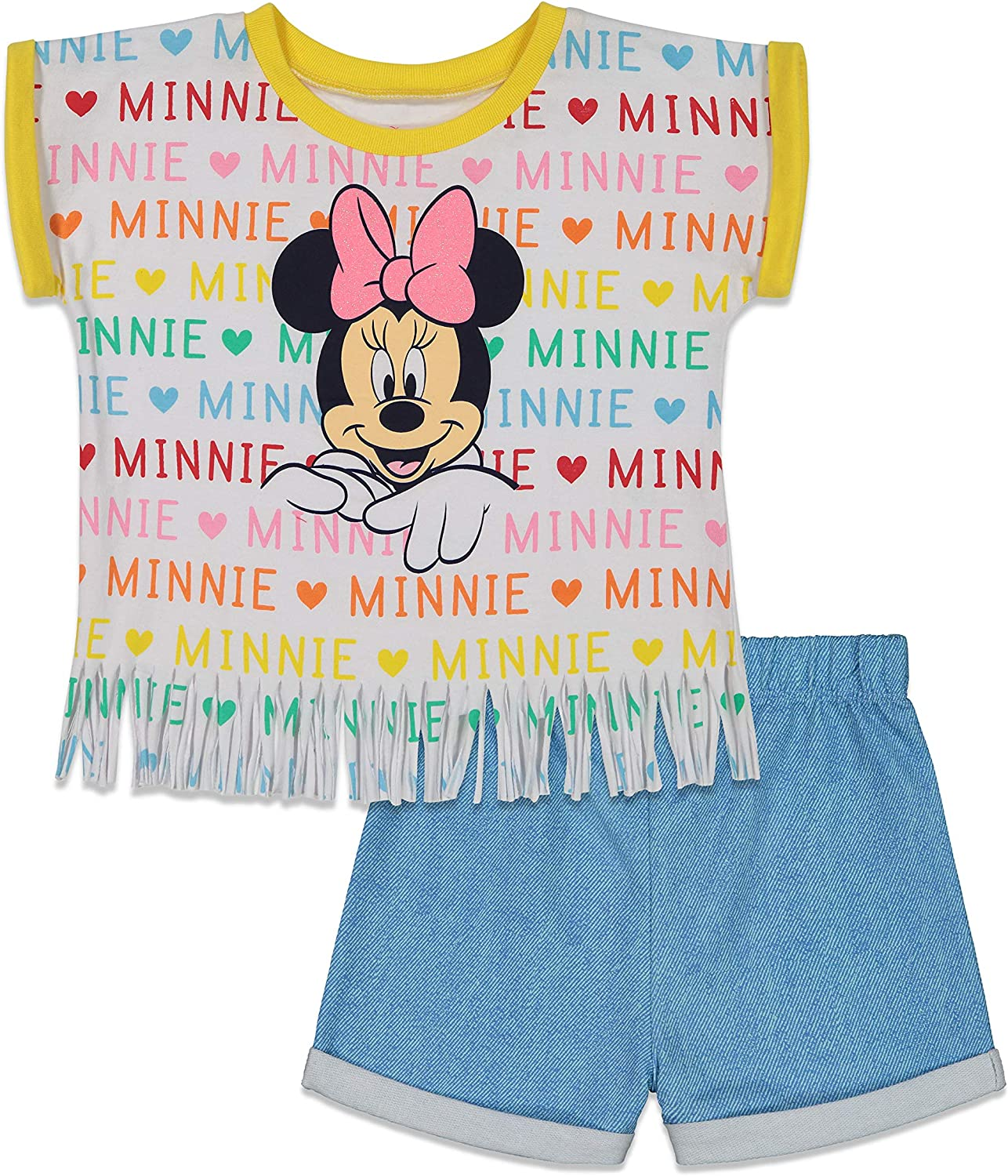Disney Industry No. 1 Minnie Mouse Graphic T-Shirt Shorts Max 40% OFF Set