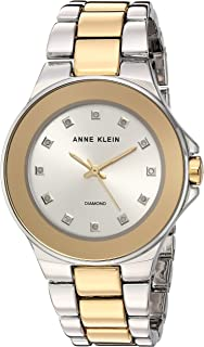 Anne Klein Women's AK/2755SVTT Bracelet Watch, Diamond-Accented Two-Tone