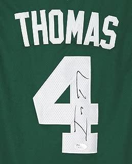 Isaiah Thomas Boston Celtics Signed Autographed Green #4 Jersey Size M JSA COA