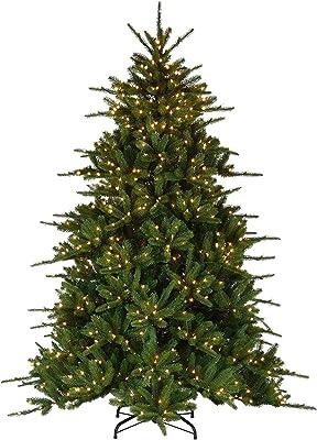 National Tree Company 7.5 ft. Ponderosa Fir Tree with Dual Color LED Lights, Green