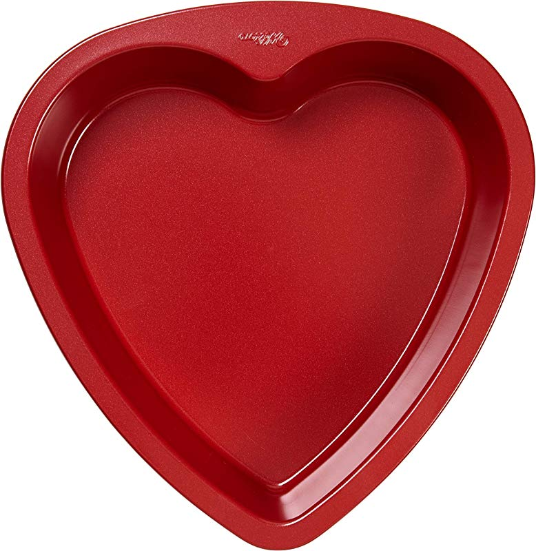 Wilton 2105 5467 Non Stick Heart Cake Pan 9 Inch Red