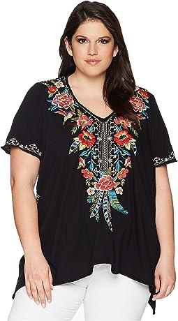 Plus Size Samira Drape Top