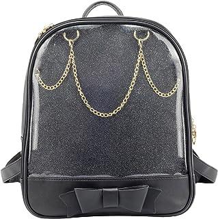 483a622930 SteamedBun Ita Bag Candy PU Leather Backpack Bowknot Kawaii Window Girls  School Bag