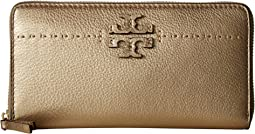 Tory Burch - McGraw Metallic Zip Continental Wallet