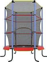 Ultrasport Cama elástica de interior Jumper 140 cm para niños, cama elástica de ocio y fitness para niños a partir de 3 años, para uso en interior, extremadamente segura con red y borde con revestimiento