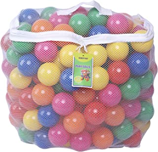 Click N' Play Pack of 100 Phthalate Free BPA Free Crush Proof Plastic Ball, Pit Balls - 6 Bright Colors in Reusable and Durable Storage Mesh Bag with Zipper