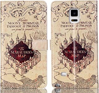 Galaxy S5 Case - Hogwarts Marauder's Map Pattern Slim Wallet Card Flip Stand PU Leather Pouch Case Cover For Samsung Galaxy S5 / Galaxy SV/Galaxy S V - Cool as Great Gift