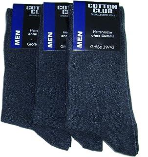 Cotton Club, 6 pares de calcetines de los hombres sin Gr goma. 3942, 4346 4750 5154 (4346 Antrazit)
