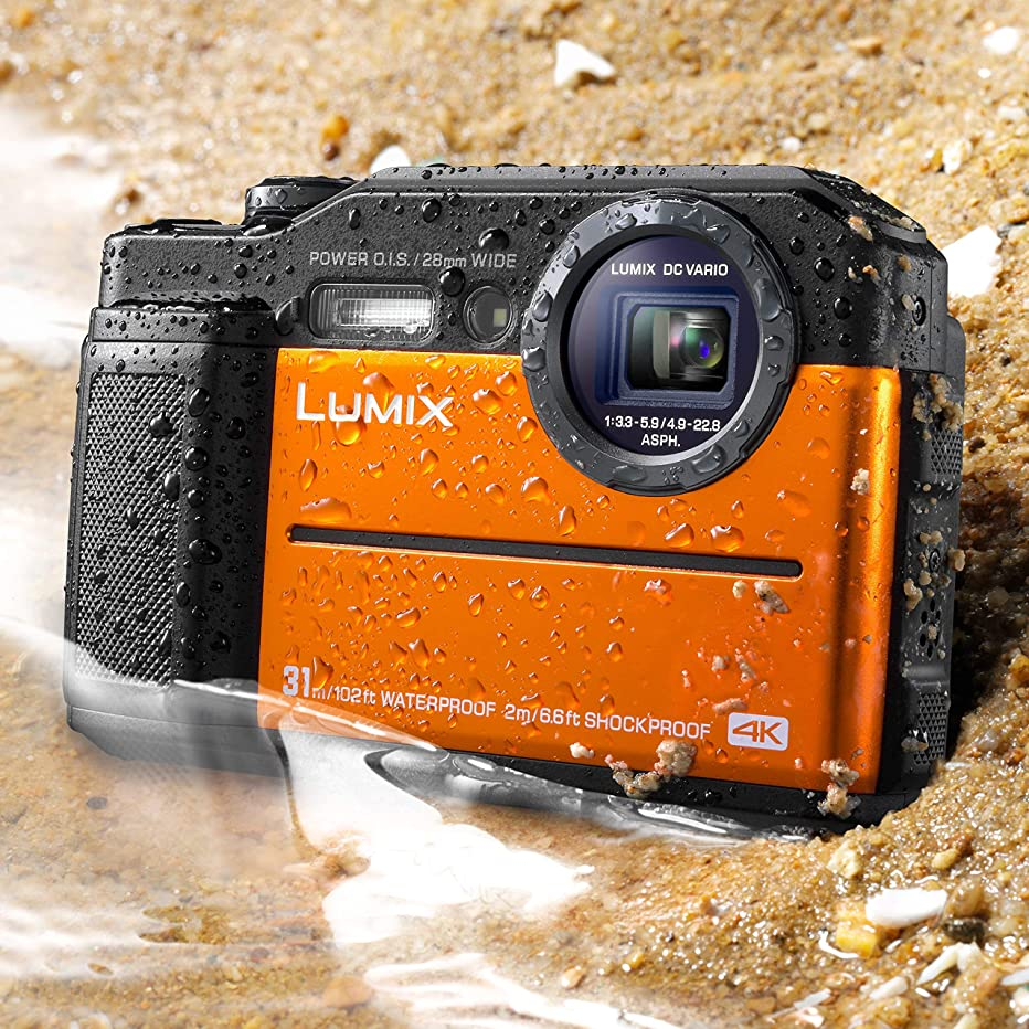 Panasonic DC-TS7D Lumix TS7 Waterproof Tough Camera, 20.4 Megapixels, 4.6X Zoom Lens, USA, with 3