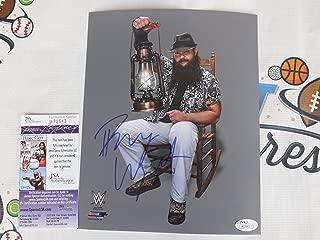 Bray Wyatt signed WWE licensed 8x10 photo rocking chair family JSA COA