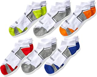 Fruit of the Loom Big Boy's Everyday Active Low Cut Tab Socks (6 Pack)