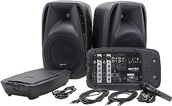 Gemini ES Series ES-210MXBLU Professional Audio Portable PA System with Two 10