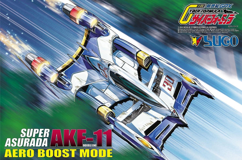 Cyber formula No.11 Super asurada AKF11 aeroboost mode 1   24 scale plastic model