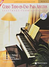 Curso todo en uno para adultos/ Adult All In One Course: Lecciones Teoría Técnica: Nivel 1/ Lesson Theory Technic: Level 1 (Alfred's Basic Adult Piano Course) (Spanish Edition)