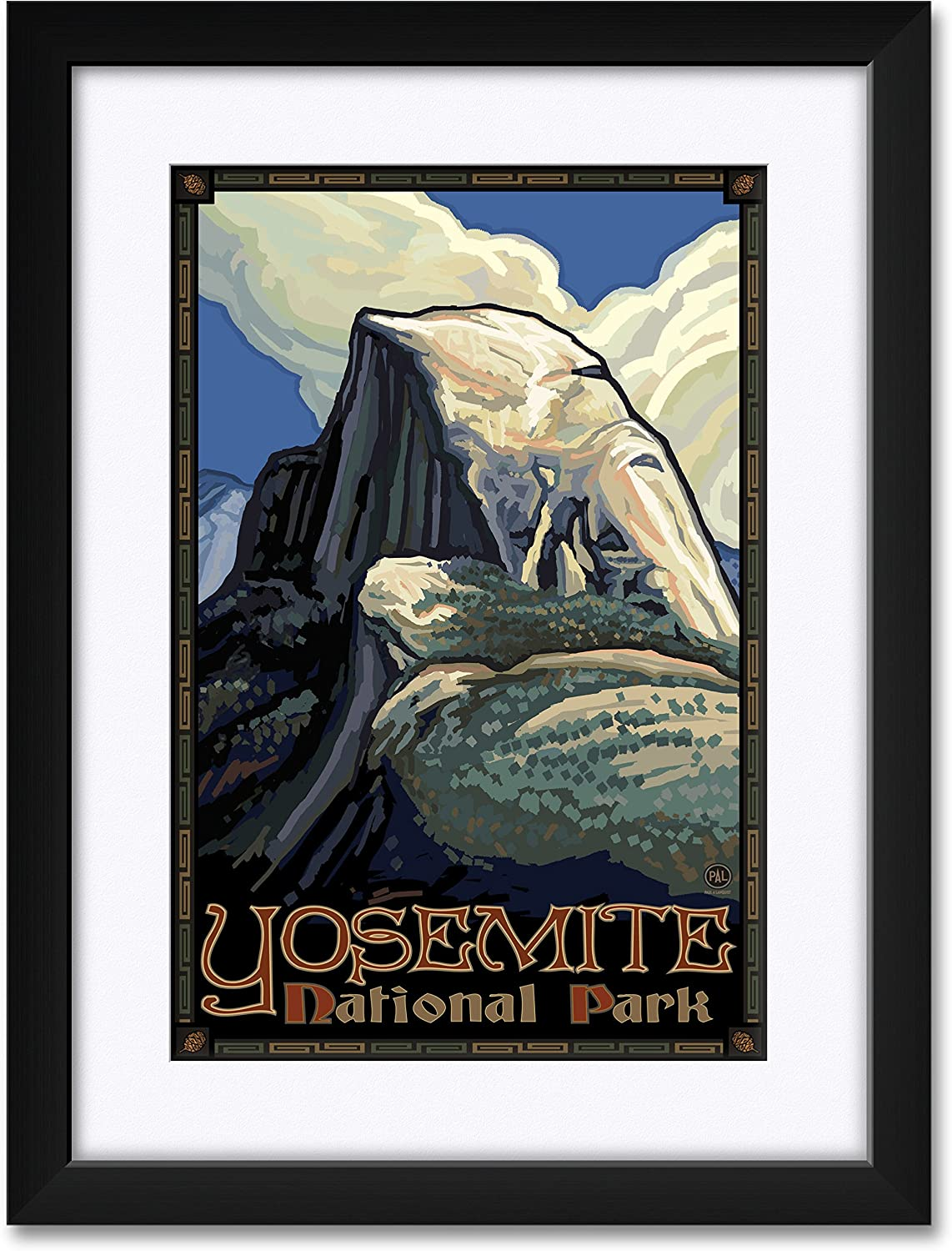 Yosemite National Park Al sold out. Half Professionally Dome Framed Matted Max 51% OFF