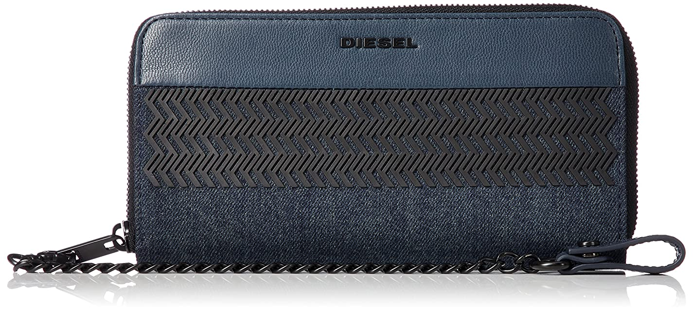 バレーボール魅了する配送(ディーゼル) DIESEL メンズ 財布 ジップ付き 長財布 X05820P1823