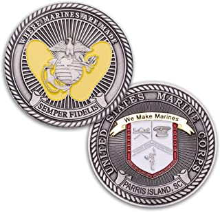 Parris Island Challenge Coin - Marine Corps Recruit Depot Military Coin - MCRD Challenge Coin Designed By Marines For Marines! Officially Licensed