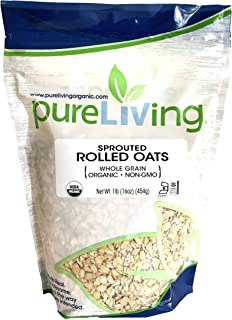 Pure Living - Organic Sprouted Rolled Oats - 16 Ounce