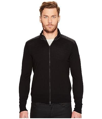 BELSTAFF Kelby Fine Gauge Merino Full Zip Sweater (Black) Men