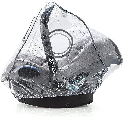 Habillage Pluie Cosy Universel Confort pour Siège-Auto (ex. Bébé Confort, Cybex), Bonne Circulation de l'Air, Fenêtre...